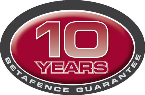 Betafence 10 years garantee