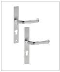 serratura integrata con maniglia per cancelli horizon