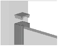 profilo da u per installazione diretta dei pannelli nei cancelli horizen